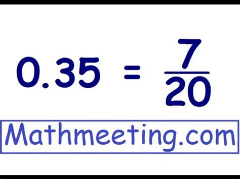 Decimals to Fractions - YouTube
