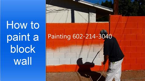 How to paint a cinder block wall