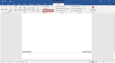 Word: adding page numbers, editing them and numbering