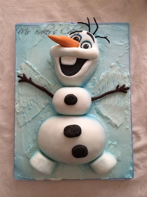 Frozen Olaf Snow Angel Cake - CakeCentral