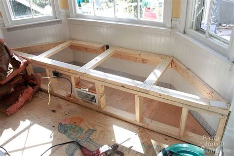 How to Move a Floor Register in a Window Seat - Pretty