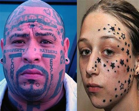 Face Tattoos | Cool and Somewhat Scary Face Tattoo Designs