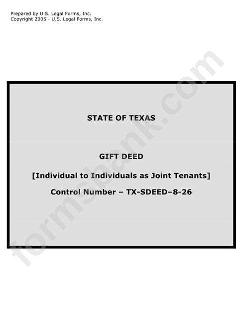 State Of Texas Gift Deed printable pdf download