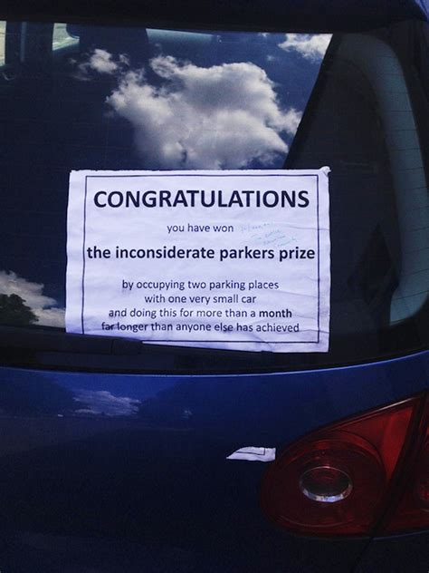 24 Creative Windshield Notes For Drivers Who Parked Horribly