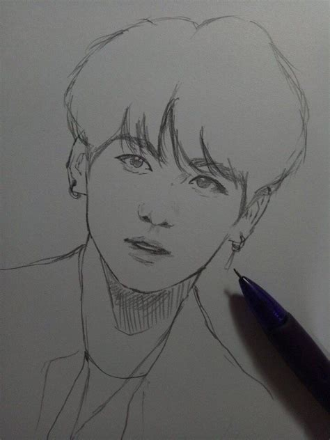 Pin by Mona Abugal on Drawings&Tutorials   Sketches, Kpop