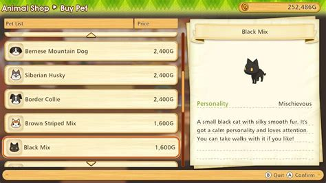 Story Of Seasons: Pioneers Of Olive Town - Pets Guide
