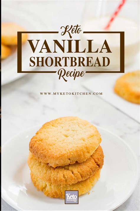 How to make Low Carb VANILLA SHORTBREAD COOKIES - Easy