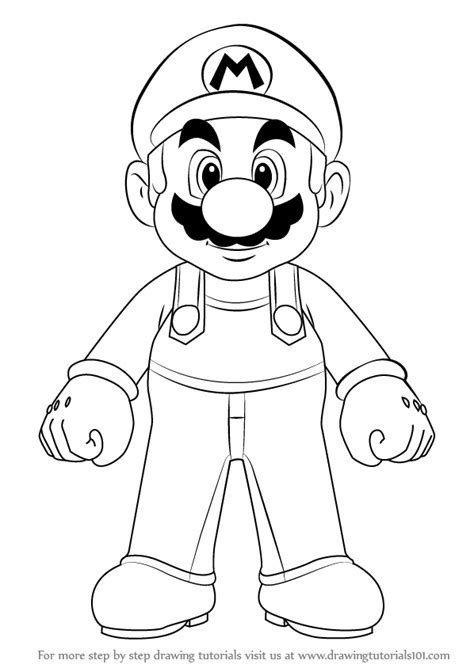 Learn How to Draw Mario from Super Mario (Super Mario