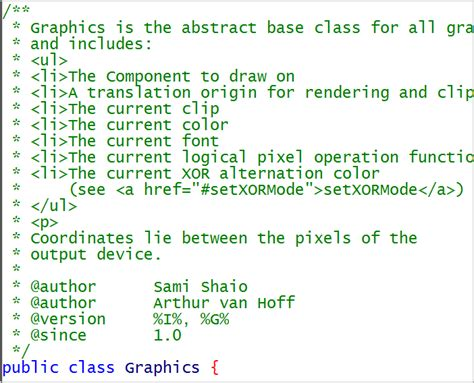 javadoc - how to