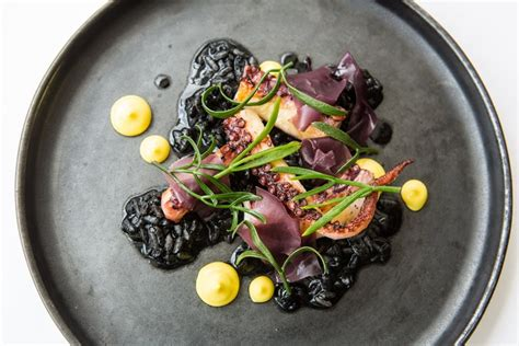 Sous Vide Octopus with Black Risotto Recipe - Great