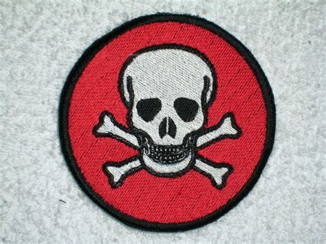 Death Head Skull Embroidered Patch   eBay