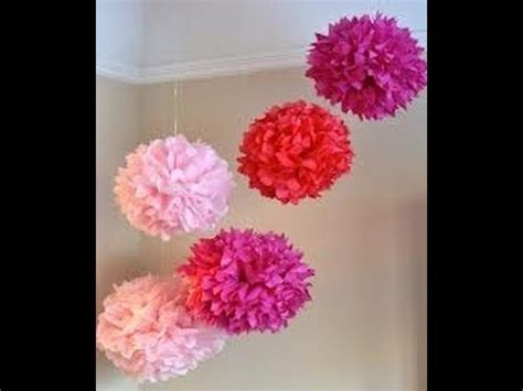DIY Tissue Paper Decorations - YouTube