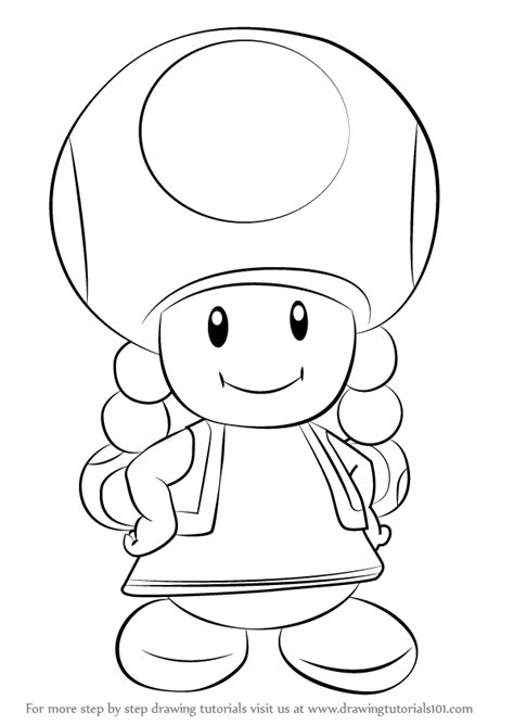 Learn How to Draw Toadette from Super Mario (Super Mario
