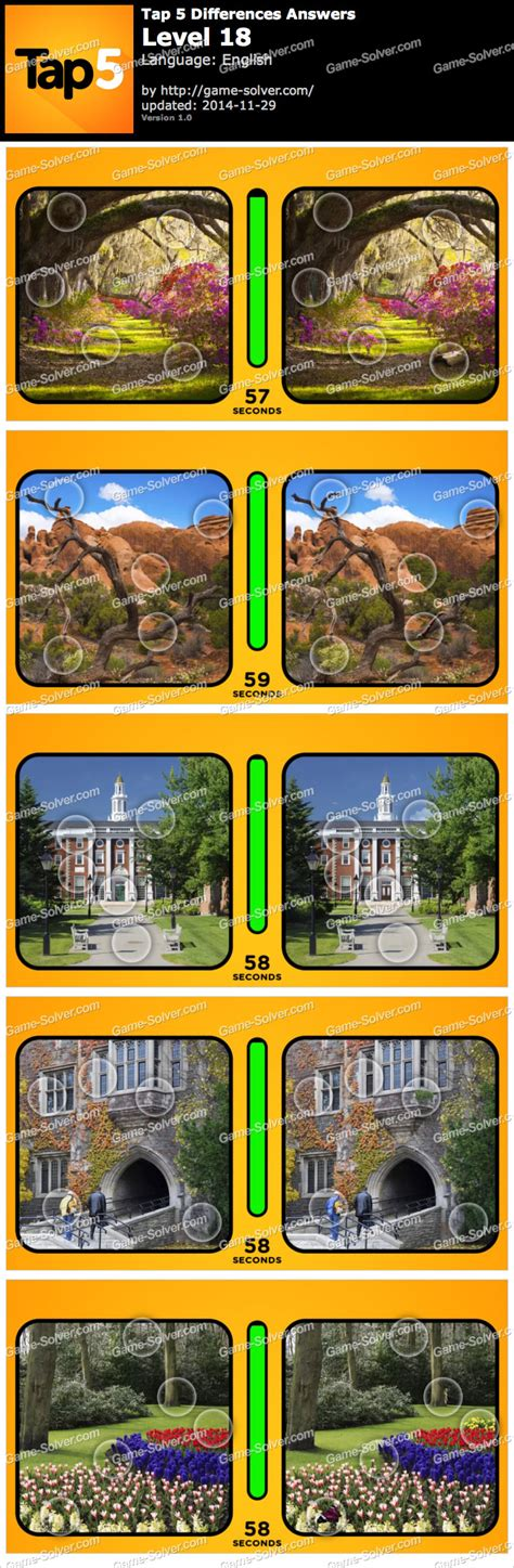 Tap 5 Differences Level 18 • Game Solver