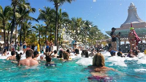 Foam party in the pool - Picture of Hotel Riu Palace