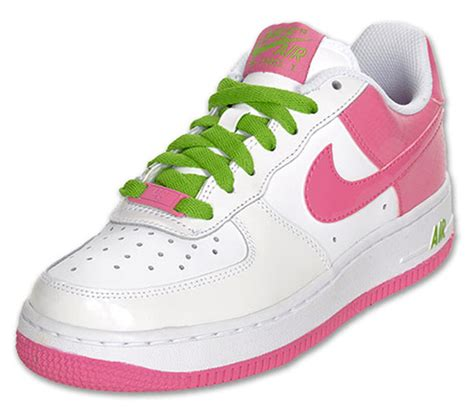 Nike Air Force 1 Low GS – White – Gym Pink – Green Apple