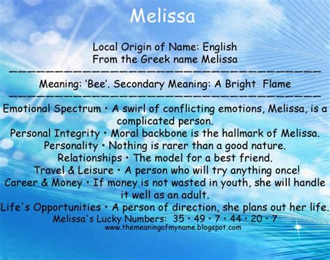 Meaning of the Name Melissa - Know Your Name Meaning