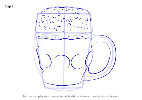 Learn How to Draw Beer Mug (Everyday Objects) Step by Step