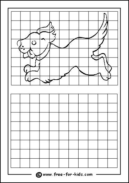 Practice Drawing Grid with Puppy | Art: Printables & How