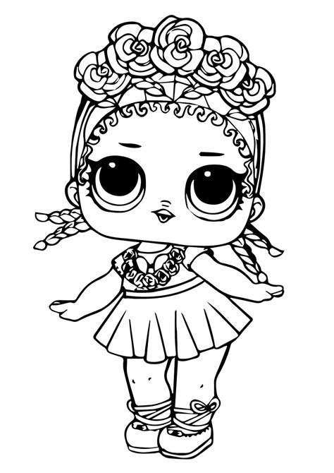 30 Free Printable Lol Surprise Doll Coloring Pages