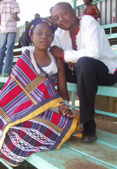 Africa - VENDA TRADITIONAL ATTIRE (NWENDA) COLOR - RED was
