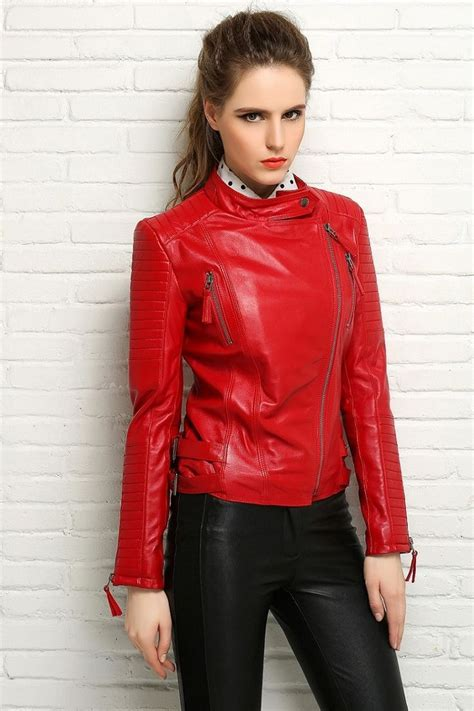 Pin on Red Leather Jacket